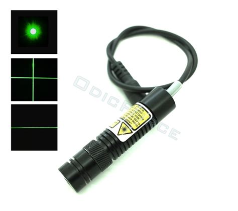 direct diode laser 50mw green 520nm locking focus direct diode laser module dot line and cross 16mm 5v