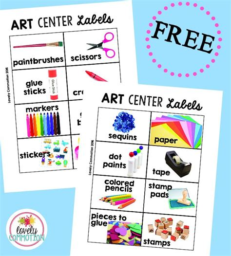 printable labels for kindergarten classroom preschool art center center labels free preschool and free