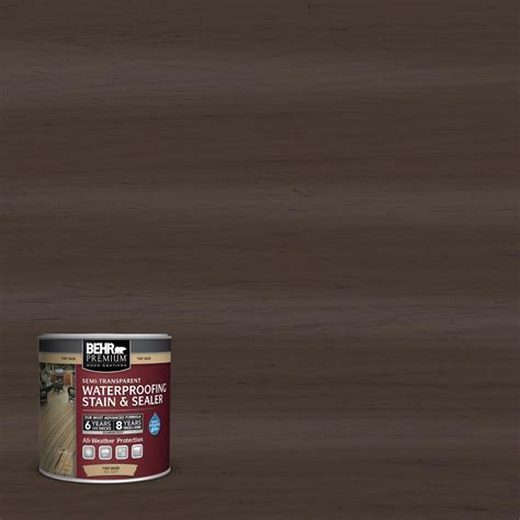 behr solid color waterproofing wood stain behr premium 8 oz sc 110 chestnut solid color