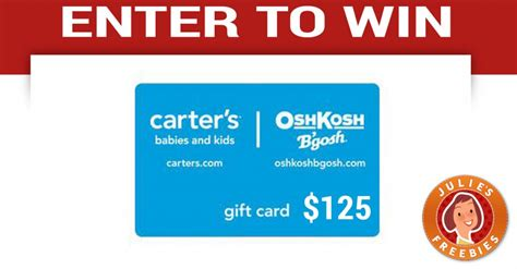 Carter S Gift Card - enter to win a carter s gift card julie s freebies