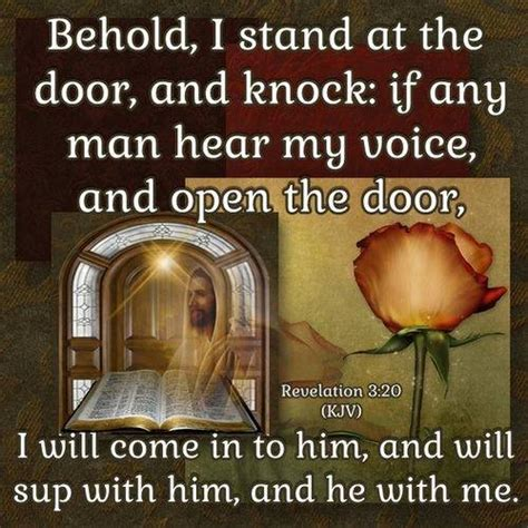 Knock And The Door Shall Be Opened Kjv by Revelation 3 20 Kjv Behold I Stand At The Door And Knock Ecard