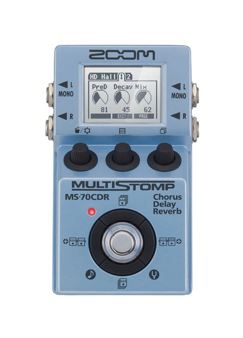 Zoom Multistomp ms 70cdr multistomp chorus delay reverb pedal zoom