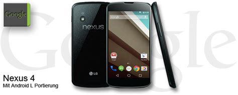 Nexus 4 Bekommt Android L Portierung