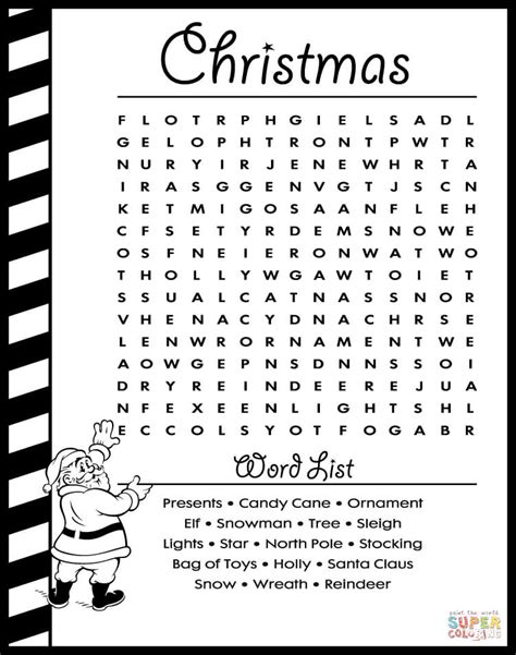 free printable christmas word search pages christmas word search puzzle learn english coloring page