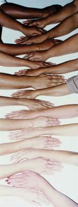 shades of skin color a great visual to show values and the variety of skin