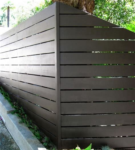modern fence backyard pinterest