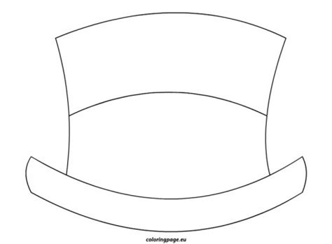Frosty Hat Coloring Page | snowman hat 2 kids crafts coloring pinterest