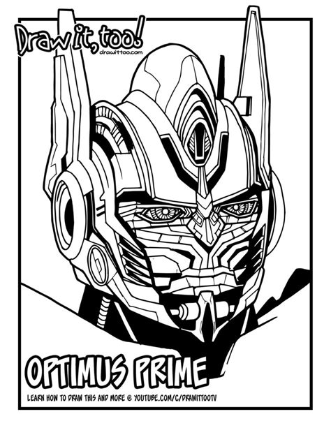 Optimus Prime Coloring Page by Optimus Prime Coloring Coloring Pages