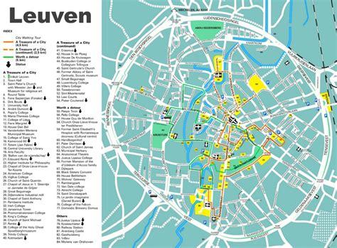 belgium attractions map leuven tourist map