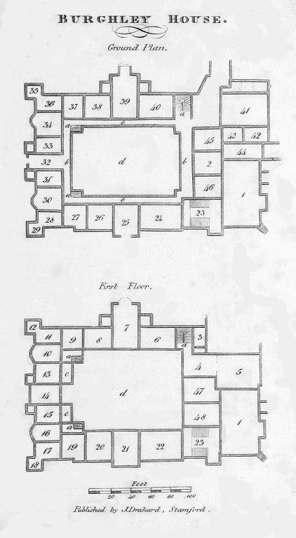 burghley house floor plan collection care blog paper