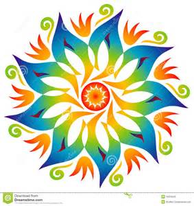 single mandala rainbow colors stock photos image 16204533