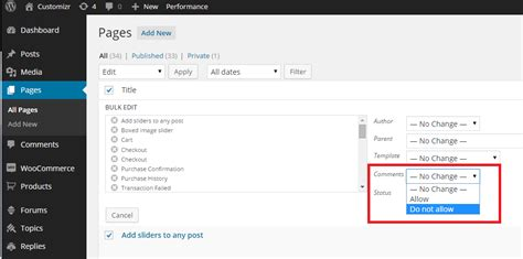 enable theme editor in wordpress how to disable or enable comments in pages in a wordpress