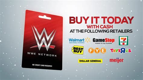 Wwe Network Gift Card Walmart - wwe network gift card give the perfect gift this holiday season youtube