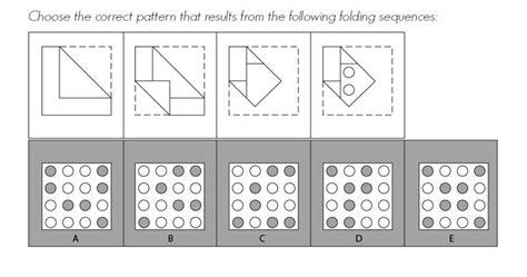 pattern folding practice questions dat pat hole punching question 3 by gold standard dat