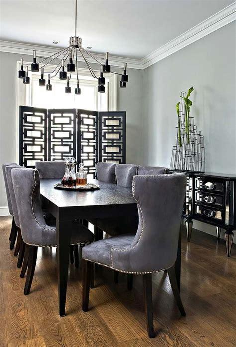 Grey And Black Chair Design Ideas Salle 224 Manger Moderne Et Sombre 50 Id 233 Es 233 L 233 Gantes