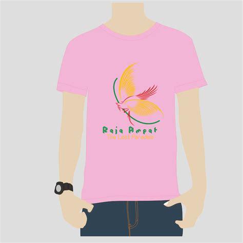 Kaos Pink Muda Polos desain cendrawasih pink muda kaos souvenir raja at
