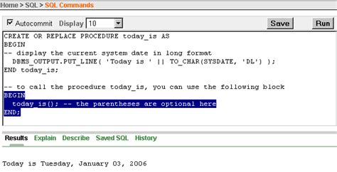tutorial oracle procedure 5 using procedures functions and packages