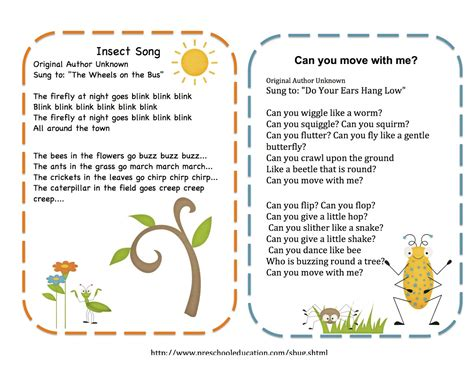 printable songs for toddlers songs on pinterest