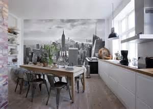 Poster Mural Noir Et Blanc #1: poster-mural-new-york-noir-blanc-empire-state-building-salle-manger-cuisine.jpg