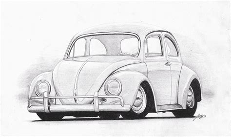 old volkswagen drawing vw beetle classic drawing www pixshark com images