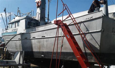 boat sponsons toke point aluminum sponson full service shipyard