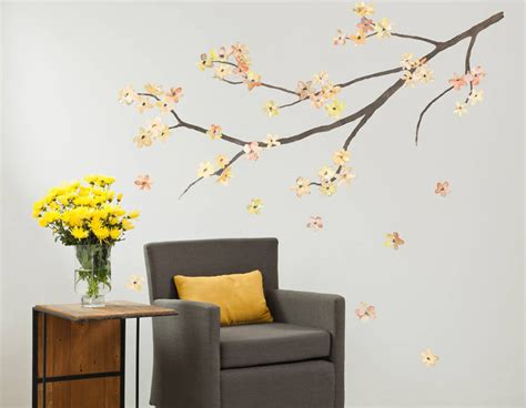 blossom wall stickers blossom branch wall sticker contemporary wall stickers