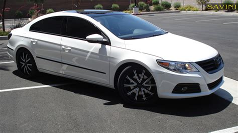 white volkswagen passat black rims cc savini wheels
