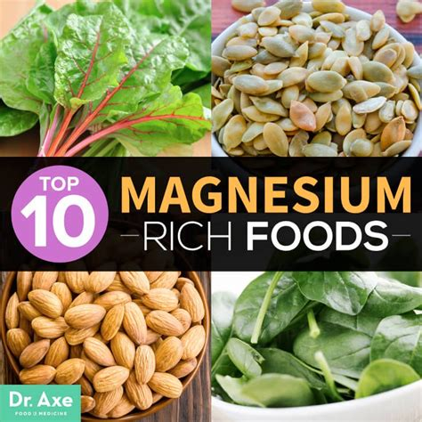 vegetables high in magnesium top 10 magnesium rich foods plus proven benefits dr axe