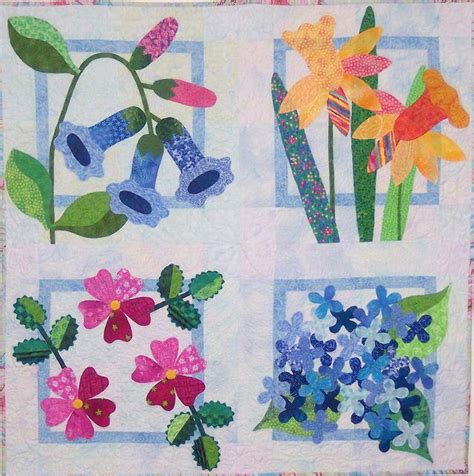 Floral Applique Quilt Patterns by I D To Try Applique Quilt Applique Applique