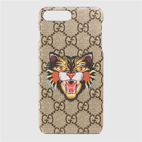 angry cat print iphone   case gucci mens technology ban