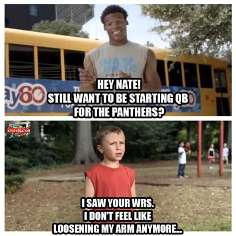Cam Newton Memes - cam newton and the play 60 kid part 2 hornets funny