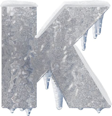 up letter to snow presentation alphabets and snow letter k