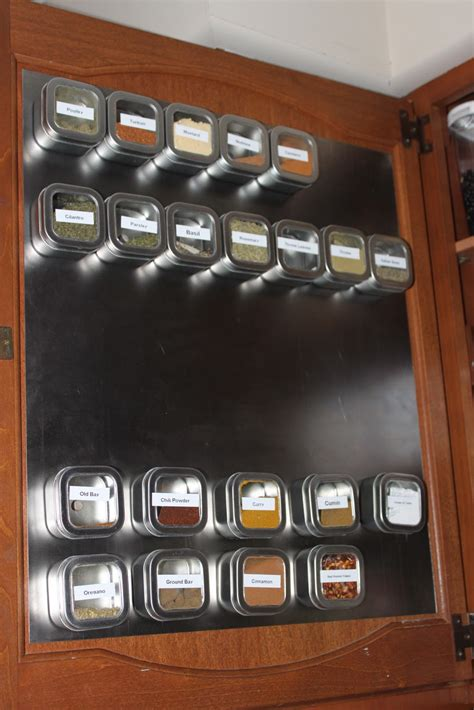 The Spice Cabinet Re Do Becoming More Domestic Spice Cabinets With Doors