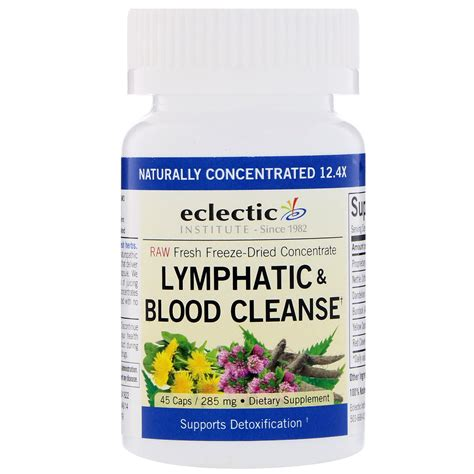 Lymph Detox Herbs by Eclectic Institute Lymphatic Blood Cleanse 285 Mg 45