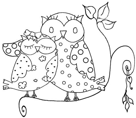 Free Adult Owls Coloring Pages Owl Coloring Pages