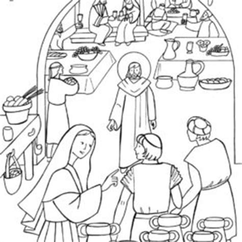 Wedding At Cana Coloring Sheet by Marriage At Cana Coloring Page Wedding At Cana Bible