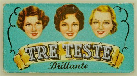tre teste lametta tre teste brillante