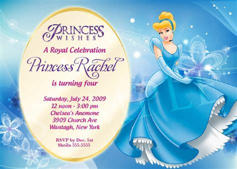 princess invitations template best template collection