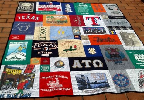 T Shirts To Quilts by U T College Fraternity Days T Shirt Quilt T Shirt