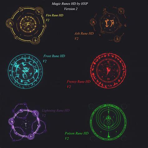skyrim mage light spell magic runes hd at skyrim nexus mods and community an