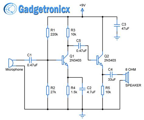 transistor in lifier 2 stage lifier circuit using transistors gadgetronicx