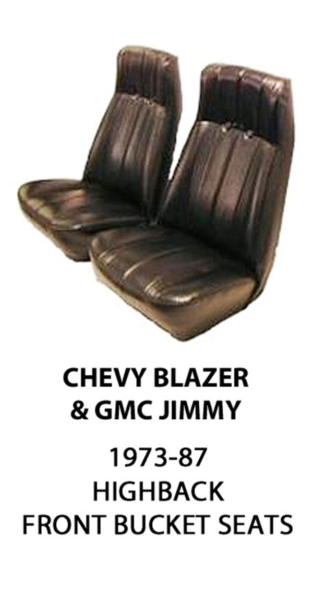 gmc jimmy seat covers chevrolet blazer gmc jimmy factory replacement front