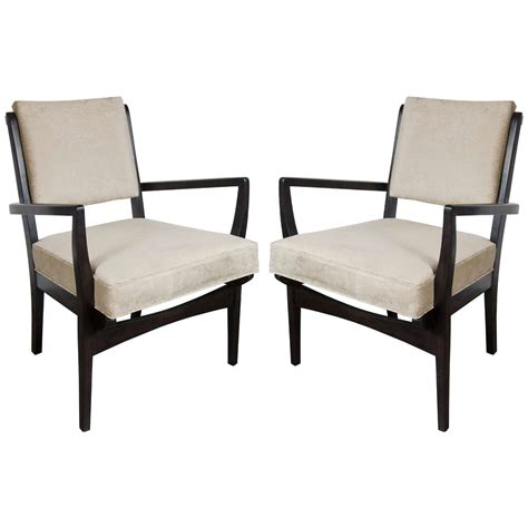 occasional armchairs luxe pair of mid century modernist occasional armchairs in