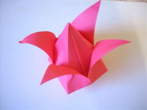 Origami Tulips - origami tulip 183 an origami tulip 183 origami on cut out keep