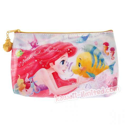 japan disney watercolor painting  case pencil bag pouch mermaid ariel kawaii limited