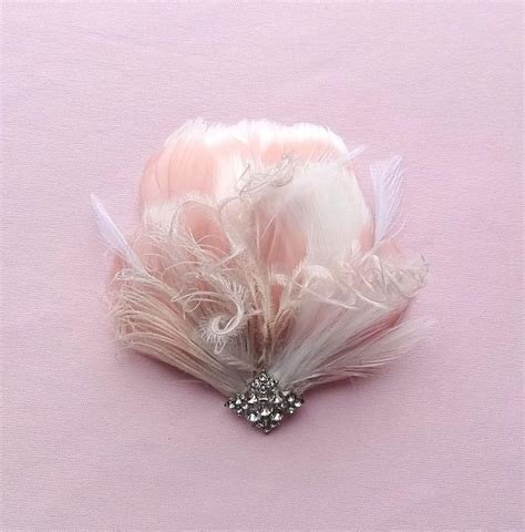 Wedding Hair Accessories With Feathers by Bridal Feather Headpiece Wedding Hair Accessories Blush