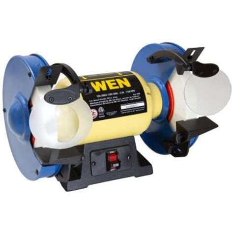 slow bench grinder wen 120 volt 8 in slow speed bench grinder 4286 the home depot