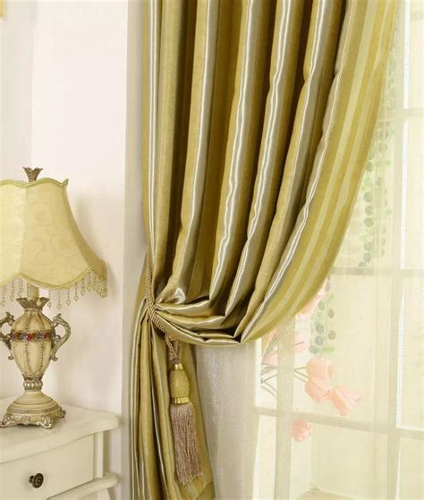 gold curtains bedroom stunning striped printing bedroom or living room gold