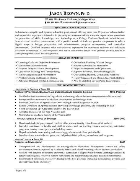 Resume Sles For College Faculty 1000 Ideas About Objective Exles For Resume On Best Objective For Resume Resume