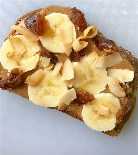 Krimu Banana Toast Almond cinnamon almond butter toast with banana coconut living healthy in seattle